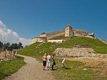 Fortaleza de Rasnov - exterior imagen de archivo libre de regalías