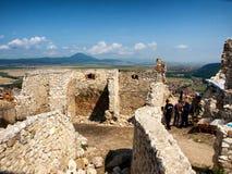 Fortaleza de Rasnov - interior imagen de archivo libre de regalías