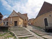 Fortaleza de Rasnov - interior imagen de archivo