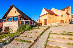 Fortaleza de Rasnov, Transilvania, Rumania fotografía de archivo