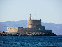 Fortaleza de Saint Nicholas Rhodes Fotos de Stock