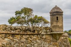 Fortaleza de Sao Jose da Ponta Grossa. Florianopolis, Santa Catarina, Brazil Stock Images