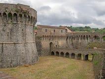 Fortaleza de Sarzanello, Sarzana, Ligurai, Italia Fotos de archivo libres de regalías