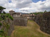 Fortaleza de Sarzanello, Sarzana, Liguria, Italia Foto de archivo libre de regalías