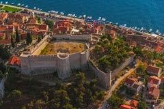 Fortaleza de Sibenik San Juan Foto de archivo libre de regalías