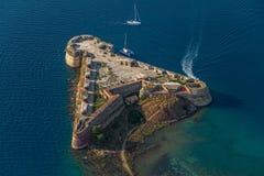 Fortaleza de Sibenik San Nicolás Foto de archivo libre de regalías