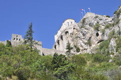 Fortaleza de Sisteron fotos de archivo