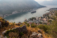 Fortaleza de St John em Kotor, Montenegro Imagens de Stock