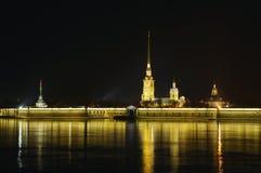 Fortaleza de St Petersburg, de Rússia, de Peter e de Paul Imagens de Stock