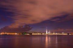 Fortaleza de St Petersburg, de Rusia, de Peter y de Paul Imagen de archivo