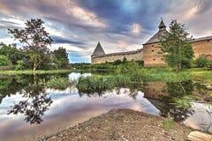 Fortaleza de Staroladozhskaya, Staraya regi?n de Ladoga, Leningrad, Rusia imagen de archivo