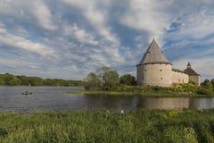 Fortaleza de Staroladozhskaya, Staraya regi?o de Ladoga, Leninegrado, R?ssia fotografia de stock