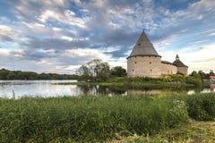 Fortaleza de Staroladozhskaya, Staraya regi?o de Ladoga, Leninegrado, R?ssia imagens de stock royalty free