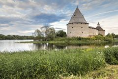 Fortaleza de Staroladozhskaya, Staraya regi?o de Ladoga, Leninegrado, R?ssia imagem de stock royalty free