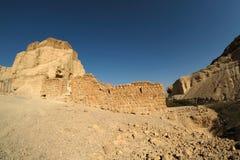 Fortaleza de Zohar en el desierto de Judea imagen de archivo libre de regalías