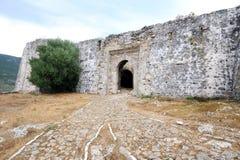 Fortaleza del bajá de Ali, Parga Imagen de archivo libre de regalías