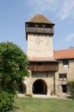 Fortaleza del campesino de Calnic Imagenes de archivo
