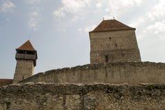 Fortaleza del campesino de Calnic Foto de archivo