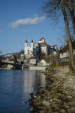 Fortaleza del castillo de Aarburg Foto de archivo libre de regalías