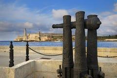 Fortaleza del EL Morro en entrada de la bahía de La Habana Imagenes de archivo