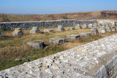 Fortaleza del latín de Adamclisi Foto de archivo
