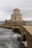 Fortaleza del methoni Grecia Imágenes de archivo libres de regalías