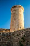 Fortaleza do castelo de Bellver em Palma de Maiorca Fotos de Stock Royalty Free