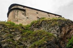 Fortaleza do castelo na rocha fotos de stock