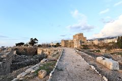 Fortaleza do cruzado de Byblos Fotografia de Stock