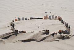 Fortaleza do escudo na areia Imagem de Stock