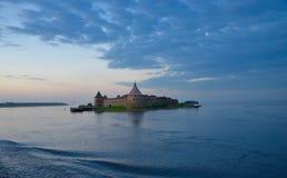 A fortaleza do lago Lagoda Rússia Shlusselburg Foto de Stock