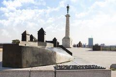 Fortaleza do modelo In Belgrade de Kalemegdan, Sérvia fotografia de stock royalty free