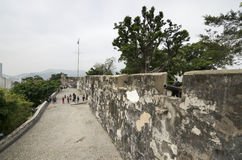 Fortaleza do Monte. In Macau. It is one of the designated sites of the Historic Centre of Macau enlisted on the UNESCO World Heritage List Stock Photography