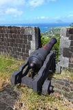 Fortaleza do monte do Brimstone - Saint Kitts Foto de Stock