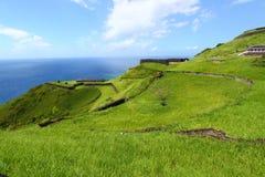 Fortaleza do monte do Brimstone - St Kitts imagens de stock