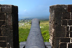 Fortaleza do monte do Brimstone - St Kitts Fotografia de Stock
