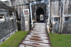 Fortaleza do monte do Brimstone - St Kitts Foto de Stock