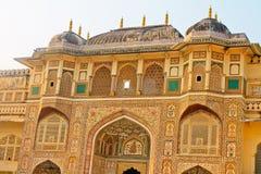 A fortaleza do palácio na Índia, Jaipur foto de stock