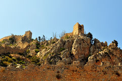 Fortaleza do St. Hilarion Fotografia de Stock Royalty Free