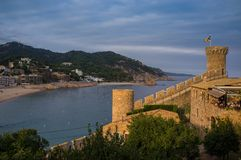 Cidade velha em Spain fotografia de stock