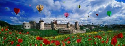 Fortaleza em Kamenetz-Podolsk imagens de stock