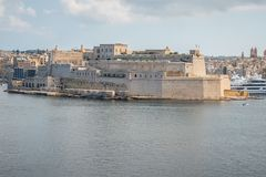 Fortaleza em Malta foto de stock royalty free