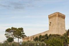 Fortaleza en Castiglione del Lago imagenes de archivo