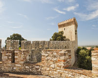 Fortaleza en Castiglione del Lago fotografía de archivo