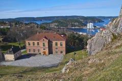 Fortaleza en Halden (el área de la educación) Foto de archivo libre de regalías