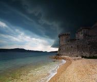 Fortaleza en Korcula Imágenes de archivo libres de regalías