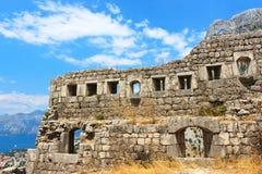 Fortaleza en Kotor Imagen de archivo libre de regalías