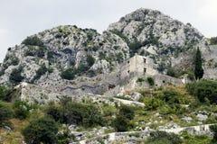 Fortaleza en Kotor, Montenegro Imágenes de archivo libres de regalías