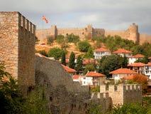 Fortaleza en Ohrid Macedonia Imagen de archivo libre de regalías