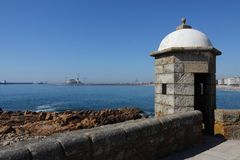 Fortaleza en Oporto, Portugal foto de archivo